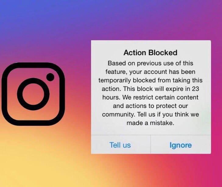 رفع خطای Action block اینستاگرام